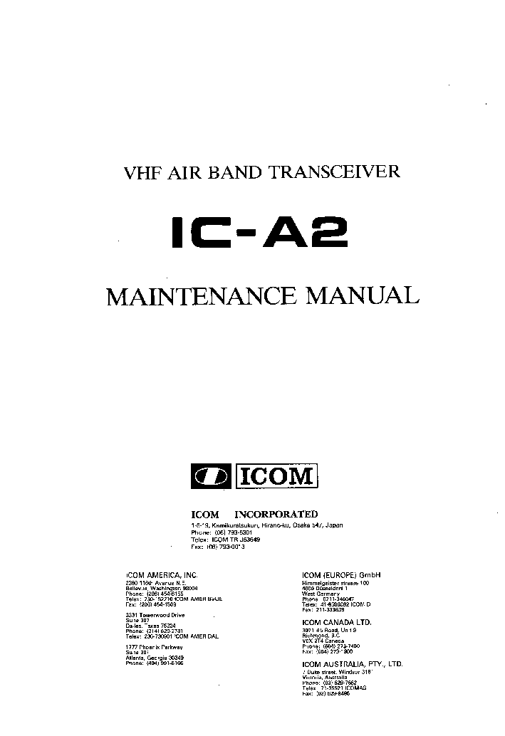 icom at 140 service manual