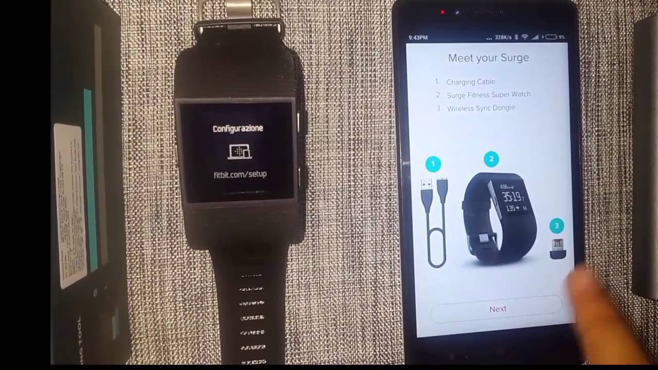 fitbit surge setup instructions