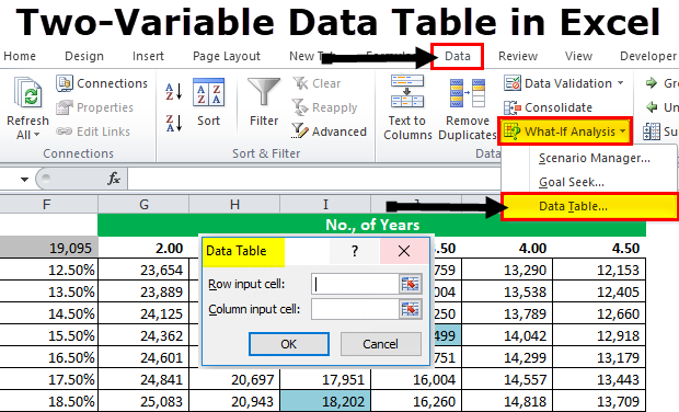 guide to data tables creation