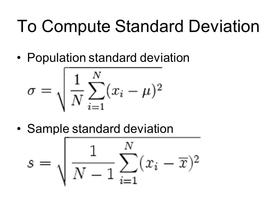 formula to find sample value using standard deviation and mean