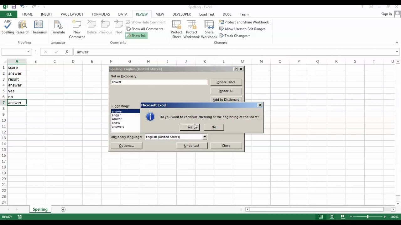 excel spell check custom dictionary dic files