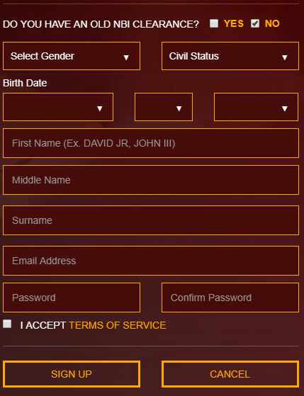 first time id application form